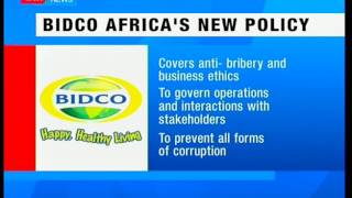 BIDCO Africa launches an anti-corruption policy to government business operations