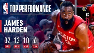 James Harden Notches His 3rd Career Playoff TRIPLE-DOUBLE   April 17, 2019