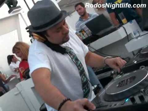 Louie Vega LIVE (Deep Inside) @ Amphitheare Club | Lindos Town, Rhodes Island, Greece - Pipper D 24 lug 2009