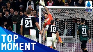 Buffon's Incredible Late Save from an Overhead Kick | Juventus 2-1 Bologna | Top Moment | Serie A