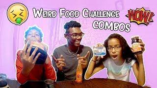 WEIRD FOOD COMBO CHALLENGE  *DISGUSTING*