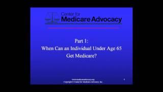 Training Video - Medicare Eligibility Under 65