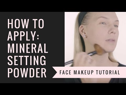 How to Apply Mineral Setting Powder | Afterglow Cosmetics