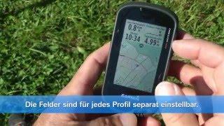 Garmin GPS Oregon 600 Oregon 650 Grundeinstellungen Karte einrichten Datenfelder einstellen deutsch