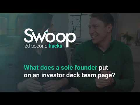 What does a sole founder put on investor deck team page?