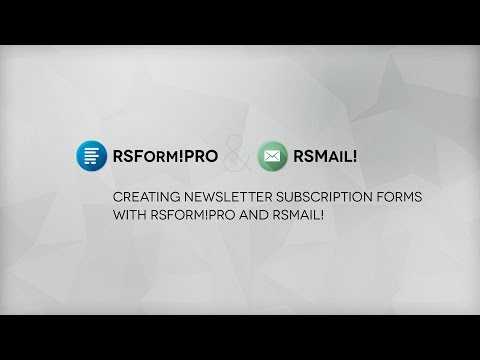 Ep. 39: Create newsletter subscription forms with RSForm!Pro and RSMail!