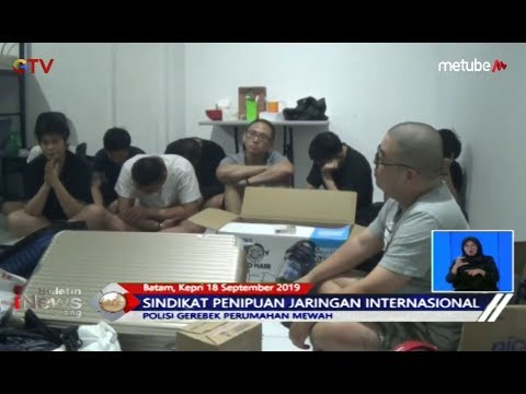Polisi Tangkap Sindikat Penipuan Online di Batam, Kepulauan Riau - BIS 19/09
