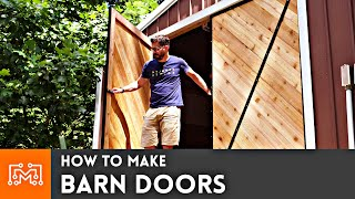 How To Make Barn Doors // Woodworking & Metalworking