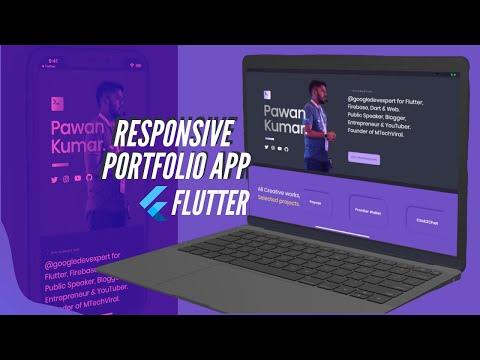 Responsive Portfolio App |  Flutter Mobile, Web, & Desktop | SpeedX Code
