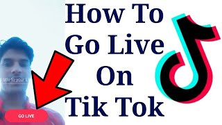 Gambar cover How to Go Live on Tik Tok | Musically New Updated Version go Live Without app and 1000 Fans