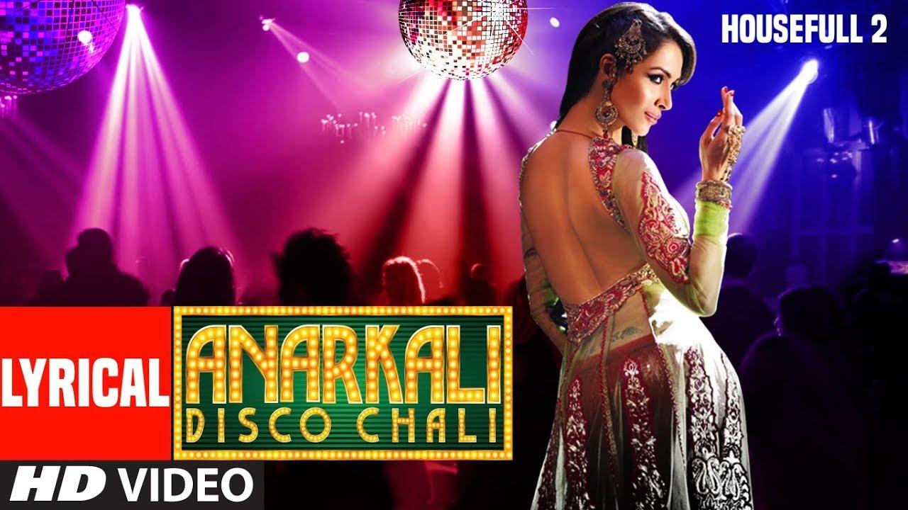 Anarkali Disco Chali lyrics Hindi