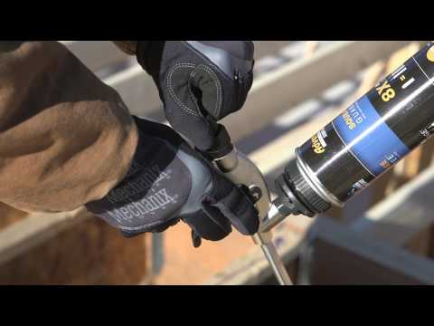 Application Instructions for NEW AdvanTech Subfloor Adhesive (Spanish)