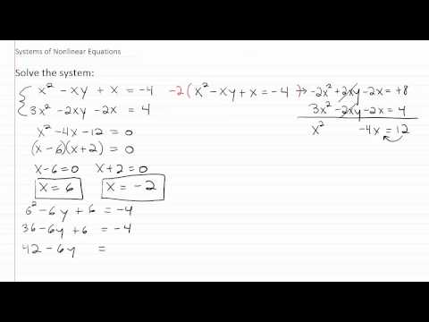 Solving Nonlinear Systems p3