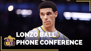 LISTEN: Lonzo Ball's phone conference with the LA media just moments after he was drafted