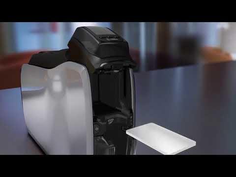 Zebra ZC300 Card Printer - Single or Dual Sided ID Card Printer video thumbnail