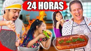 24 HORAS só COMENDO O QUE NOSSO PAI E IRMÃO COZINHARAM! - BLOG DAS IRMÃS