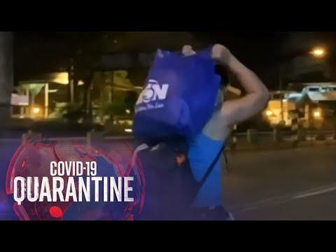 [ABS-CBN]  Ilang manggagawa, naglakad para makapasok sa trabaho ngayong MECQ | Teleradyo