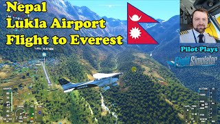 Airline Pilot Plays Microsoft Flight Simulator 2020. Lukla (Nepal) and Mountain Everest.