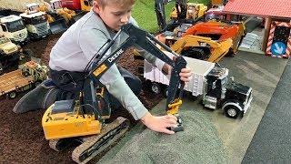 BRUDER Trucks SCHOTTER TRANSPORT Metall Bagger für Kinder RC HUINA