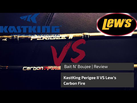 KastKing Perigee II Vs Lew's Carbon Fire Fishing Rod Review and Comparison
