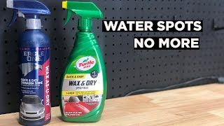 TURTLE WAX WAX & DRY VS EAGLE ONE WAX AS YOU DRY - THE SECRET PRODUCT TO PREVENTING WATER SPOTS