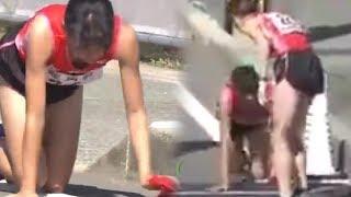 Kaki Patah, Wanita Pelari Asal Jepang Merangkak hingga Lutut Berdarah
