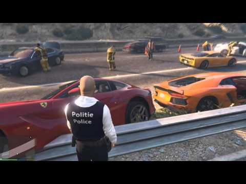 GTA 5 SUPERCARS ACCIDENT AMAZING