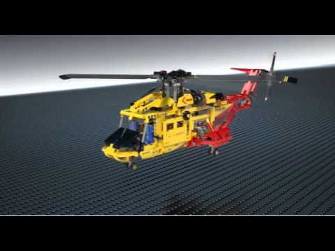 Vidéo LEGO Technic 9396 : L'hélicoptère
