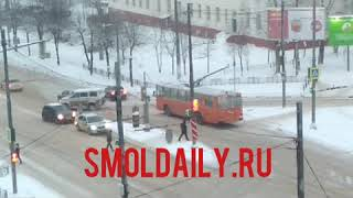 ДТП с троллейбусом. Смоленск 5.01.19