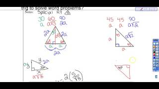 7.2b Special Right Triangles