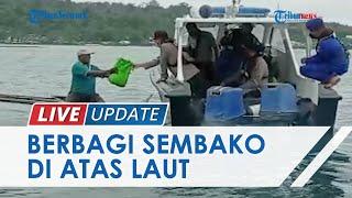 Bantu Nelayan Terdampak PPKM Level 4, Polres Manokwari Salurkan Sembako lewat Jalur Laut