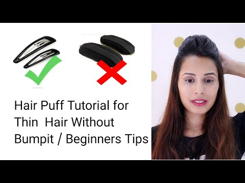 Hair Puff Tutorial For Thin Hair Without Hair Bumpit | Beginners Tips