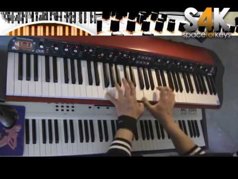 Jamming on Korg Sv1 Stage Vintage 1 - piano ( sv1 sv 1 piano rhodes hammond )