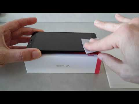 Install Bakeey tempered glass for Xiaomi Redmi 7A from Banggood
