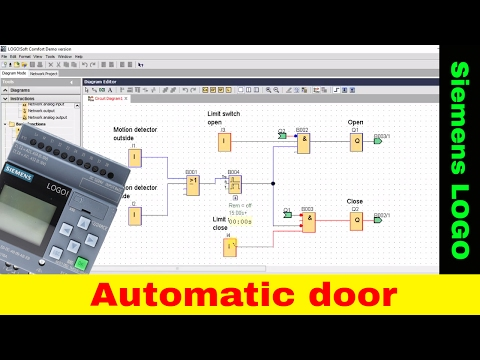 Automatic door - Siemens Logo tutorial. LAD, FBD, PLC tutorial.