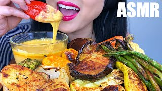ASMR CHEESY ROASTED VEGGIES *NO TALKING* (EATING SOUNDS) | ASMR Phan