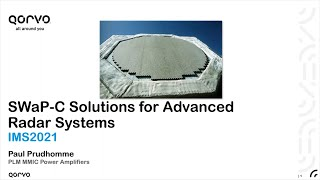 SWaP-C Solutions for Advanced Radar Systems