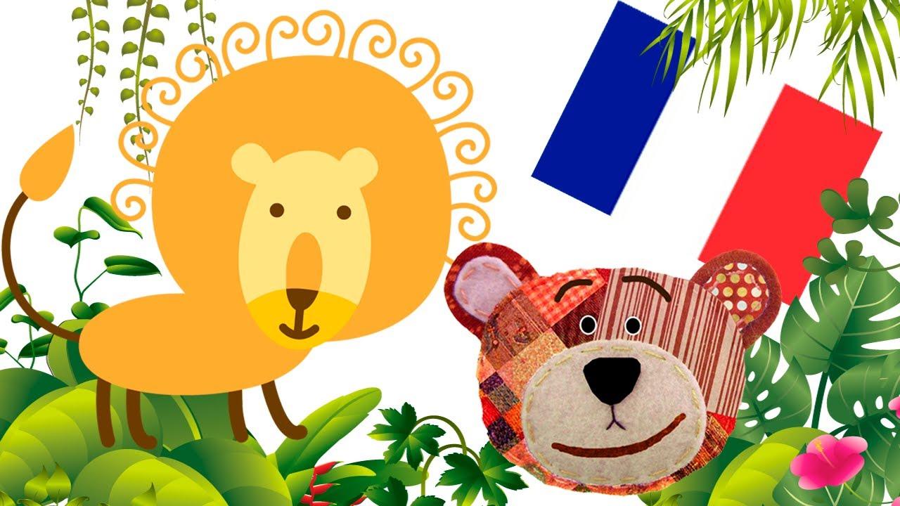 Los animales de la selva en francés para niños