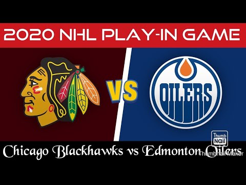 Watching and Discussing The 2020 NHL Play-in Game Between Chicago Blackhawks and Edmonton Oilers