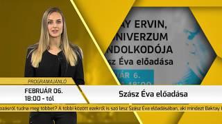 Programajánló / TV Szentendre / 2019.01.31.