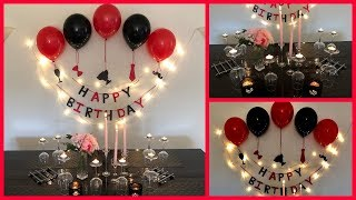 Easy Surprise Birthday Decoration For Husband - Party Decorations.