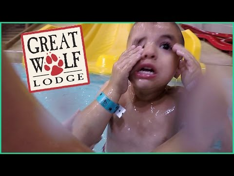 BRAVING THE SLIDE AT GREAT WOLF LODGE WATER PARK!!