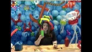 Decoración Marina en Globos: Medusa en Globos  Jellyfish Balloons Parte I