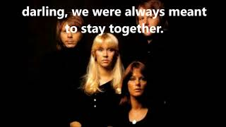 As Good As New ABBA  (with lyrics)