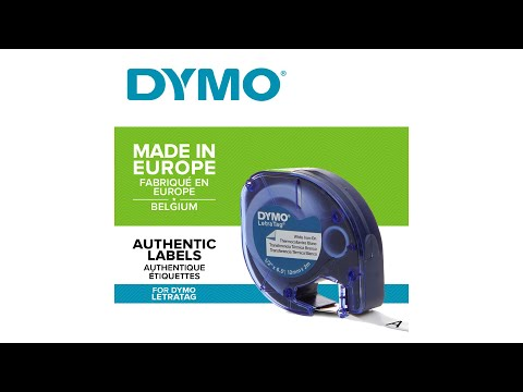 Etichete haine Dymo LetraTag, Iron-On 12mmx2m, albe, 18769 S0718850 S0718840 DY18768