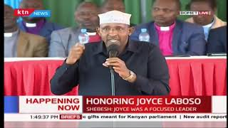 Majority leader Adan Duale recounts his political experience with the late Joyce Laboso