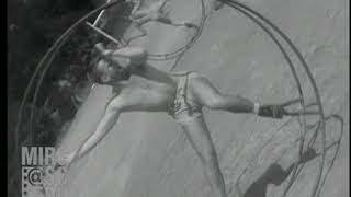 "See rare 1943 FOX Movietone film of cadets training on ""aerowheels."""
