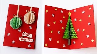 3D Christmas Pop Up Card | How To Make Christmas Tree Greeting Card