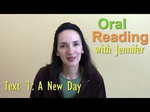 "Oral Reading Fluency 1 - ""A New Day"""
