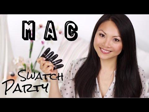 Meine MAC Lippenstifte - Swatch Party